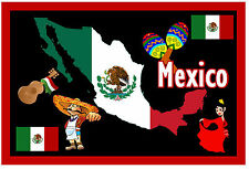 MEXICO - MAP / FLAG FUN SOUVENIR NOVELTY SIGHTS FRIDGE MAGNET - NEW - GIFTS
