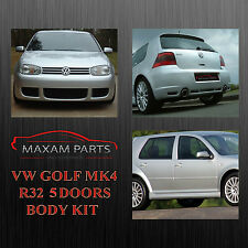 "VW GOLF MK4 4 IV BODY KIT BODYKIT 5 DOORS "" R32 "" = NEW = ABS PLASTIC"