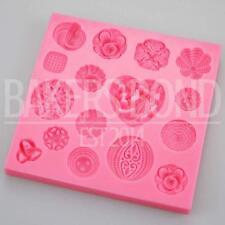 Multi vintage complexes texturé bijoux broches moule silicone coeur rose