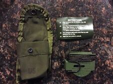 NEW US Military Tritium Lensatic Compass Model 3H Cammenga OLIVE DRAB w case