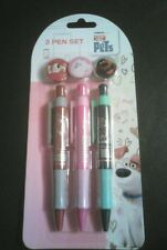The secret life o pets 3 pen set