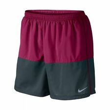 "Nike sz 2XL Distance 5"" Men's Running Shorts NEW $50 642804 644 Dark Pink / Grey"