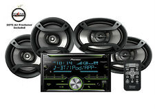 "Pioneer FH-X730BS CD Receiver Bluetooth w/ One Pair of 6.5"" &  6x9"" Speakers"
