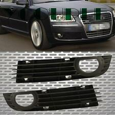 US Pair Fit 06-08 AUDI A8 Quattro Front Bumper Fog Light Left + Right Side Grill