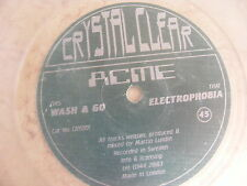 "ACME - Wash & Go / Electrophobia  - 45 Maxi-Single 12"" - Crystal Clear - TOP"
