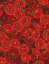 POPPY GROVE RED POPPIES FABRIC
