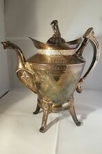 Vintage Reed And Barton 1870s Silver Plate Coffee&Tea Pot Pitcher antique
