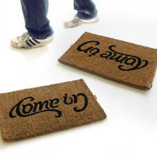 Suck UK Doormat Come In Go Away Ambigram Reversible Upside Down Door Mat Coconut