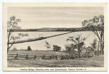 POSTCARD-CANADA-ONTARIO-PETERBOROUGH-PTD. The Floating Bridge, Chemong Lake.