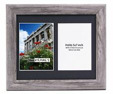 CreativePF 2 Opening Multi 5x7 Driftwood Picture Frame 10x12 Black Collage Mat