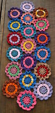 Handmade Crochet Flower Table runner Doily 29 inches by 11 inches Mother's day
