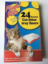 24 SCENTED CAT LITTER TRAY LINERS DISPOSABLE BAGS WHITE 66CM x 30CM