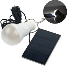 New 1.2W Solar Panel Powered Lamp LED Bulb Outdoor Camp Tent Fishing Light White