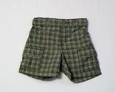 "Gymboree ""Little Tractor Co"" Green Plaid Shorts, 12-18 mos"