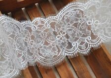 Bridal Lace Trim Chantilly Floral Trim Ribbon White Eyelash Wedding Lace Edging