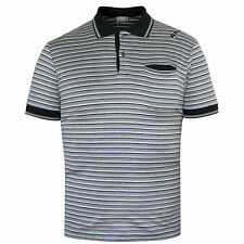 DIOR HOMME by Hedi Slimane black gray striped embroidered guitar polo shirt sz.S