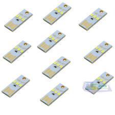 10 Pcs x LED Night Light Pocket Card Lamp Keychain Portable PC Mini USB Power