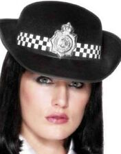 Ladies Policewoman WPC Police Lady Hat Black/White by Smiffys New