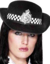 Señoras urbana WPC policía Lady Sombrero Negro/blanco por Smiffys Nuevo