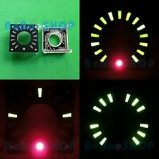 "1.3"" Annular LED Ring Display Green Bars & Red Dot (Rotary Encoder or Clock)"