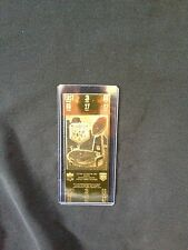 New York Giants vs. Buffalo Bills Super Bowl XXV 22kt Gold Ticket (NEW)