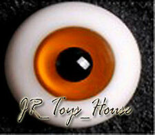 Glass Eye 14mm Orange Brown fit YOSD DOB VOLKS Lati 1/6