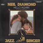 NEIL DIAMOND Hello Again & Amazed And Confused (THE JAZZ SINGER) PICTURE SLEEVE