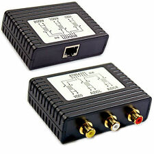 AV Composite + Audio 3 RCA To CAT5 Extender Device Balun 120m - Long Phono