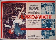 Le VICE ET LA VERTU AND VIRTUE Italian 1F movie poster CATHERINE DENEUVE VADIM