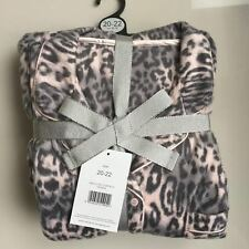 LADIES COSY FLEECE PYJAMAS SET PLUS SIZE 20-22 ANIMAL PRINT GEORGE