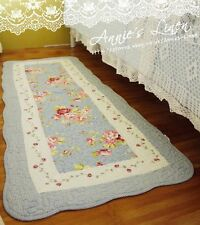 Shabby bleu pays rose victoria laura ashley fa matelassé bain/lit/tapis tapis MM03