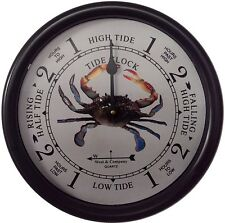 "9 1/2"" BLUE CRAB TIDE CLOCK BY WEST & CO."