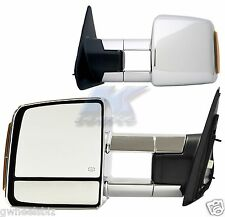 2007-2017 TOYOTA TUNDRA/ SEQUOIA POWER HEATED TURN SIGNAL CHROME TOWING MIRROR