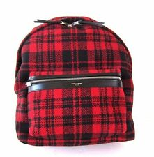 J-455497  New Saint Laurent Plaid Flannel Hunting Bag Backpack