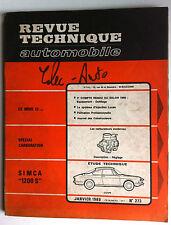 a)RTA du 1/1969; SIMCA  1200 S/ Spécial Carburation