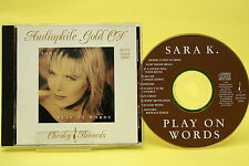 "Sara K. ""Play on Words"", 24 K Gold, Chesky Records, CD wie NEU!"