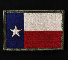 TEXAS TX FLAG LONE STAR STATE ARMY TACTICAL COLOR VELCRO® BRAND FASTENER PATCH