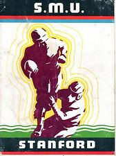 1936 Rose Bowl Football program, Stanford vs. Southern Methodist~ Fair