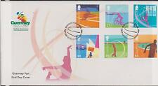 GB - GUERNSEY 2003 Nat West Island Games/Sports SG 984/89 FDC GOLF CYCLING