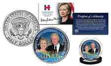 HILLARY & BILL CLINTON Democrat Presidential OFFICIAL 2016 JFK Half Dollar Coin