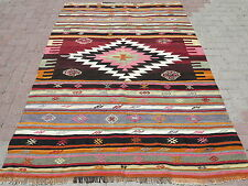 "Anatolia Turkish Antalya Nomads Kilim 55,9"" x 81,8"" Area Rug Kelim Carpet Wool"