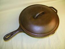 10 Inch Lodge 8SK Cast Iron Skillet / Frying Pan w/Self Basting Lid