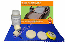 Glass Polishing Kit, Windscreen Scratch Remover, 70 ml Solution +2'' Pad
