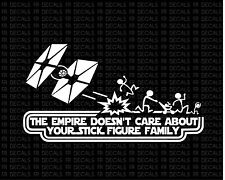 empire stick figure star wars Vinyl cut decal sticker funny car auto window
