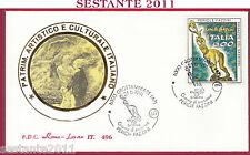 ITALIA FDC ROMA LUXOR 496 PERICLE FAZZINI 1991 ANNULLO GROTTAMMARE T880
