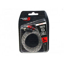 Cerwin Vega CRH3 HED Series 2-Channel RCA Cable 3Ft Twisted Pair