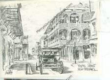NEW ORLEANS, LOUISIANA ROYAL STREET ARTIST BRENT MC CARTHY ON POSTCARD (JL8-205)