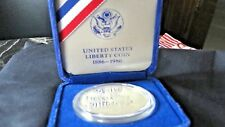 1986 Liberty Coins Silver Dollar Proof US Mint Coin Box w/certificates