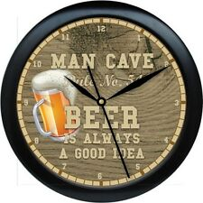 Personalized Man Cave Rule No. 54 Wall Clock Beer  Gift