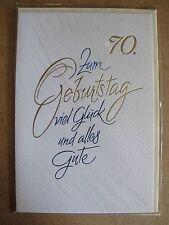 Grußkarte Zum Geburtstag Viel Glück und alles Gute 70 Jahre Aufklappbar  C0101